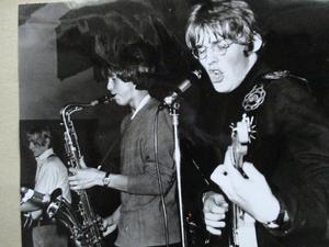 Halifax Team när det begav sig. Från vänster: Leif Andersson – bas, Sören Ahlström – saxofon , Sten Georg Alsne – gitarr.Martin Eden Band.Black Harbour Band.