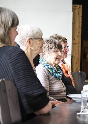 Framifrån: Maria Schwarts, Gunnel Schwarts, Ingrid Bergström och Eva Eriksson.