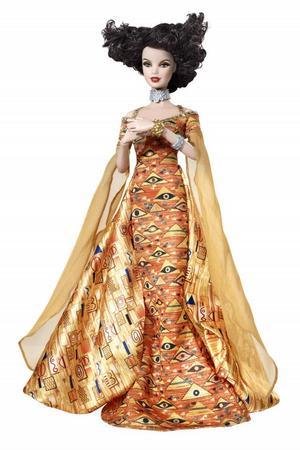 """KONSTPLAST. Barbie som Gustav Klimts """"Adele Bloch-Bauer""""."""
