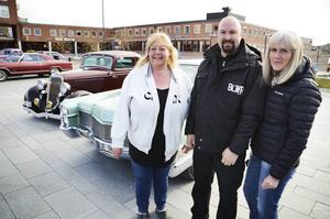 Annika Danielsson, Daniel Höglund och Anki Granlöf, är några av arrangörerna bakom bilträffen Springmeet den 17 maj.