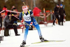 Sofia Myhr, Hede SK, är en av tre härjedalsåkare i skidskyttelandslagets trupp.
