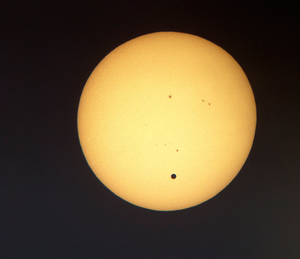Venuspassagen, fotograferad från Jorden den 6 juni.