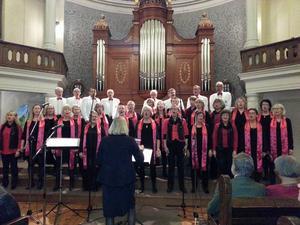 Tonicakören uppträdde i Betlehemskyrkan i Sundsvall.