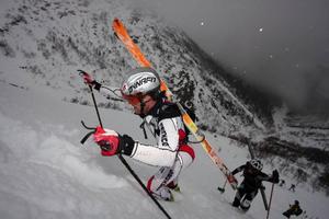 Fredrik Sätter (bilden) och Urban Axelsson från Åre kom tvåa i duoklassen efter norrmännen Ove Erik Tronvoll och Ola Berger.