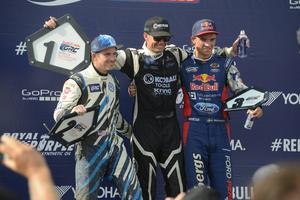 Patrik Sandell var snabbare än tvåan Scott Speed och trean Sebastian Eriksson.