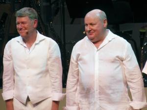 Jan Rippe och Knut Agnred i föreställningen
