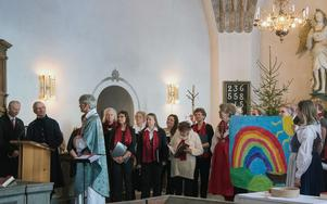 Kyrkorådets ordförande Hans Matsols höll tacktal i kyrkan.