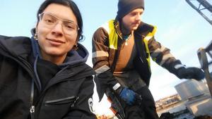 Marina Handler och kollegan Sebastian Persson.
