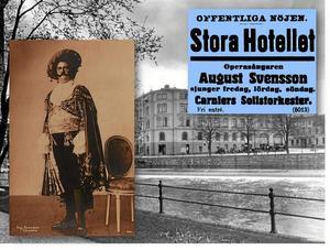 Gamla Örebro. Tre dagar i rad med operasångaren August Svensson.