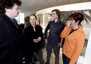 2. I rikspolitiken. Wåhlstedt tillsammans med Lars Stjernkvist (S), Maria Wetterstrand (MP)  och Mona Sahlin (S). 2005.
