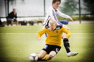 Kalle Abrahamsson och hans Strand krigade till sig en poäng.