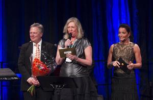 Landstingsrådet Eva Tjernström var på plats för att dela ut pris till årets företagare i Gävleborg.