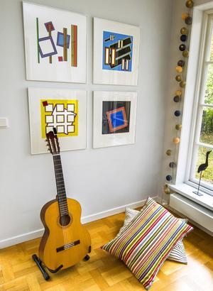 Textilier ger hemmet slutfinish. Var inte rädd för att använda färger.