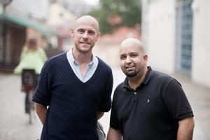 Företagare. Karl Torstensson och Saam Koroorian, två av personerna som driver nätföretaget. Foto: Per Groth