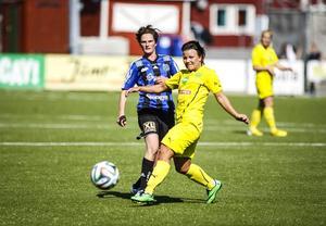 Matchens överlägset bästa spelare var ÖDFF-mittfältaren Melinda Ingalls, som jobbade kopiöst.