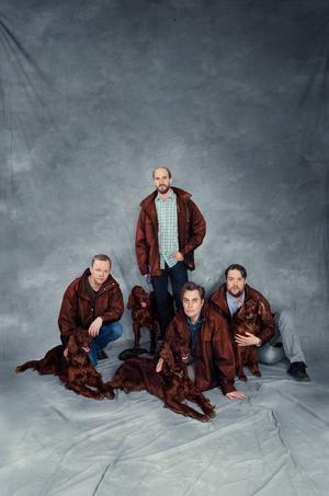 Humorgruppen Klungan, som består av Mattias Fransson, Olof Wretling, Sven Björklund och Carl Englèn, uppträder på onsdag och på torsdag på Storsjöteatern.    Fotograf: Patrick Näslund