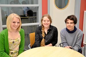 Intressant. Eleverna Alva Edlund, Beatrice Haglund och Elton Wååg tyckte att temaveckan om barns rättigheter var bra och hoppas att den leder till att fler vågar diskutera problem.