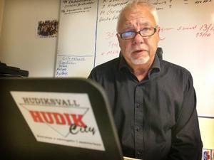 Toni Björklund, centrumledare i Hudiksvall, tror på en utveckling av handeln.