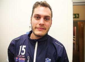David Borvall, målvakt i IFK Vänersborg, som gjorde en stormatch i Edsbyn.