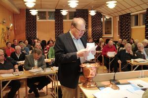Jan Hedlund (M) i kommunfullmäktige.