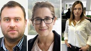 Pierre Åberg, försäljningschef – Karin Näslund, chefredaktör och ansvarig utgivare – Alexandra Johansson, redaktionschef.