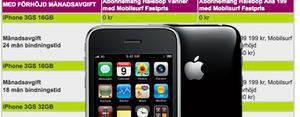 Iphone 3GS har börjat säljas - hos Halebop även med kontantkort