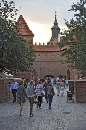 Warszawa är en promenadvänlig stad.