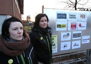 Johanna Norrvik och Marita Söderström jobbar på Entré Ungdom som arrangerade manifestationen.