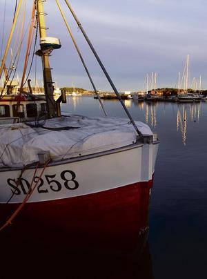STRÖMStaDS HAMN. Fiskebåt för räk- och skaldjursfiske.