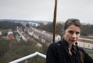 Prisbelönad. Sveriges Radios lyrikspris har gjort Helena Eriksson synlig på ett sätt som hon inte varit van vid.Foto: Björn Larsson Rosvall/Scanpix