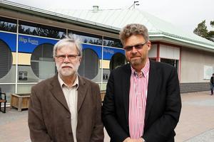 Olle Eriksson, specialist på miljöfrågor tillsammans med domstolens ordförande Lars-Göran Brennmark.