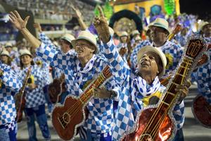 Uppträdanden under karnevalen vid Sambadrome, i Rio de Janeiro.