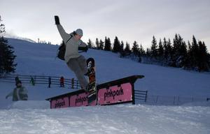 Norske Jessi Alfredo Blackwell imponerande åk i backen under fredagens railtävling tog honom till en andraplats bland snowboardåkarna. Åt ryske segraren Denis Leontyev fanns inget att göra. I damklassen segrade Mia Olsen.