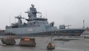 Tyska fregatten Magdeburg.