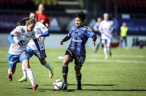 Thanatta Chawong, här i ÖDFF-dressen vid en match i elitettan under våren.