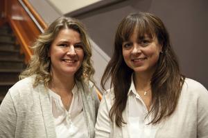 Sara Johansson (vänster) och Katarina Lenz har båda varit på Musikschlaget flera år i rad. En dag som idag, det är precis vad man behöver säger Sara Johansson.