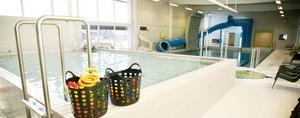 Det är stopp för bad i lilla bassängen vid Färila simhall. Stora bassängen är öppen som vanligt.