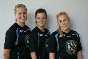 Caroline Ferm, Lina Wågström och Malin Birath.