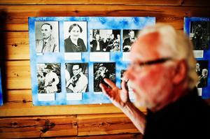 Göran Sjölén visar sin utställning Spelmän i Medelpad på söndag samtidigt som han leder minneskavalkaden av bröderna Wernberg.