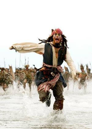 """Storfilm med Johnny Depp. TV 4 visar """"Pirates of The Caribbean: död mans kista"""" i jul.Foto: Buena Vista"""