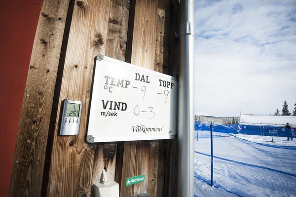 Västra Härjedalen bjuder sportlovsfirarna på sol och en vindstilla dag.