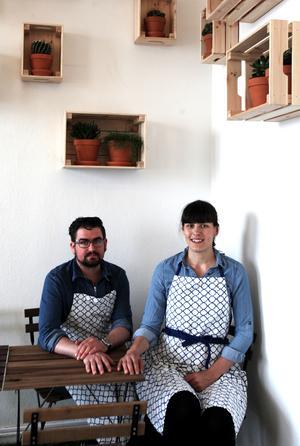 Shaun Corby, 31 och Johanna Corby, 33 driver det nyöppnade Café Skeppsbron.