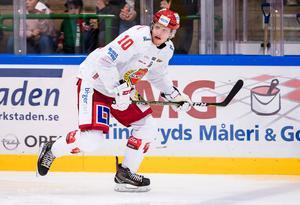 Ludvig Nilsson vispade in 2–0 för Almtuna mot sina tidigare kompisar i tidigare klubben Timrå IK.