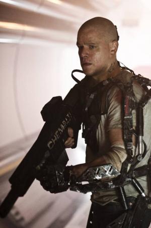 Skådespelaren Matt Damon som rebellisk jordbo i Neil Blomkamps Elysium. Foto: Stephanie Blomkamp / Columbia Tristar
