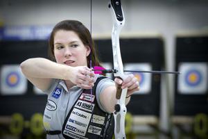 Lina Björklunds skytte var inte helt på topp – ändå blev det ännu ett säkert SM-guld för stjärnan från Edsbyn.