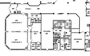 Såhär såg delar av förvaltningshuset ut före branden. Ett av förslagen är att återställa huset i ursprungligt skick.