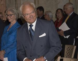 Kung Carl Gustaf närvarar vid utdelningen av Polhemspriset på torsdag.