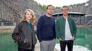 Emma Andersson, låtskrivare, tillsammans Johan Sand  och Mats Ahlberg som har anordnat Flow Sessions i Dalhalla.