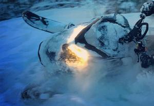 En man från Skåne har åtalats misstänkt för en snöskoterstöld i Sälen. Mannen förnekar brott.OBS: Bilden föreställer en annan snöskoter. Foto: Jonas Lundahl