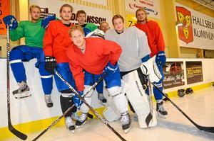 Måndag 18.00.På besök hos IFK Hallsbergs hockeys A-lag som har fått ny tränare. Här några av spelarna som siktar på att ta laget till kvalserien till division 1.